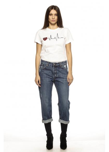 Jeans Boyfriend Cu Talie Medie