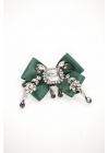 Brosa eleganta cu funda verde