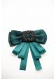 Brosa papion cu accesorii verde