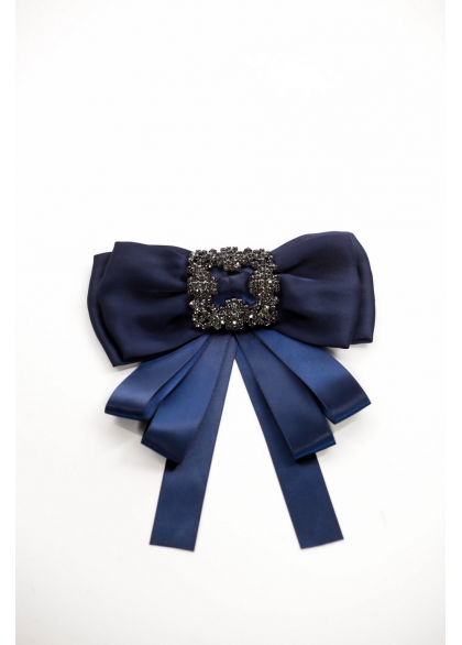 Brosa papion cu accesorii albastra