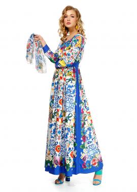 Rochie Lunga En Coeur cu Imprimeu Floral