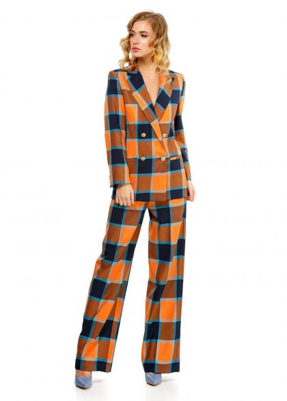 Costum Modern din Stofa in Carouri