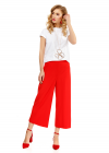 Pantaloni Trei Sferturi Rosii cu Vipusca