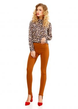 Pantaloni Leggings Caramel Cu Banda Elastica Sub Talpa