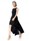Rochie Neagra Eleganta cu Pliseuri