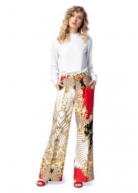 Pantaloni Eleganti cu Imprimeu Baroc