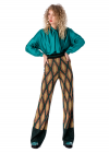 Pantaloni Largi Tricotati Cu Talie Elastica