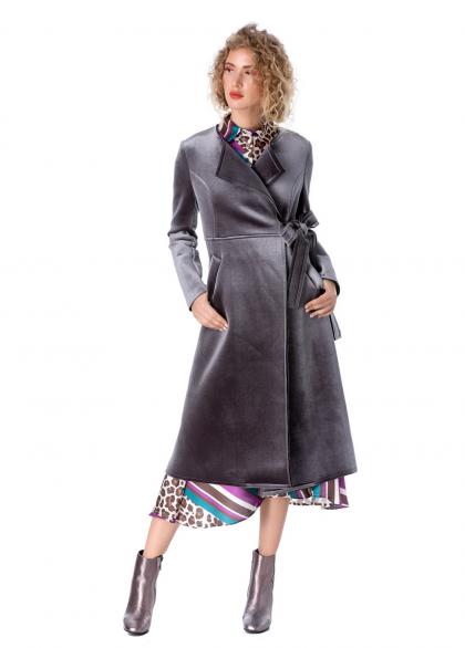 Palton Elegant Cu Aspect Metalizat