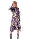 Rochie Midi Tip Camasa cu Imprimeu Multicolor
