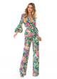 Costum Elegant cu Pantaloni din Imprimeu Floral