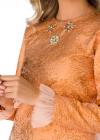 Rochie Scurta cu Aplicatii si Detalii din Tulle