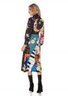 Rochie cu Imprimeu Multicolor si Aplicatii