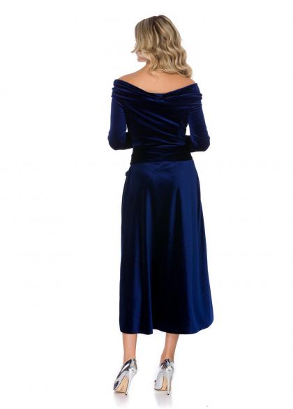 Rochie Eleganta din Catifea cu Aplicatii
