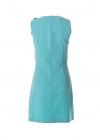 Rochie Turquoise Cu Nasturi Aurii