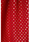 Rochie Rosie Trei Sferturi Cu Buline Aurii