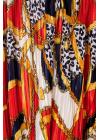 Rochie din Pliseu cu Imprimeu Multicolor