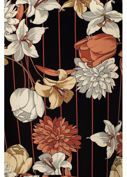 Rochie Scurta Asimetrica cu Imprimeu Floral