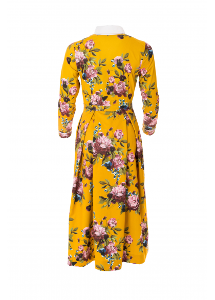 Rochie din Tafta cu Imprimeu Floral