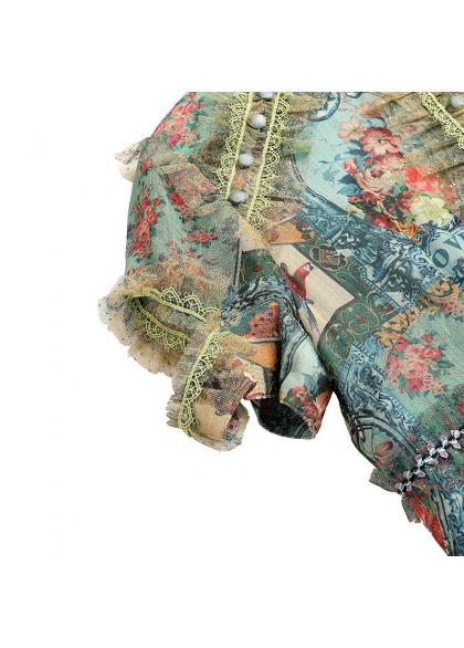 Rochie din Voal cu Detalii din Tulle