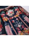 Rochie din Tafta cu Imprimeu si Maneci Lungi
