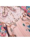 Rochie cu Imprimeu si Detalii Cusute Manual