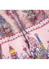 Rochie Roz cu Imprimeu si Detalii din Dantela