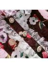 Rochie cu Flori si Maneci din Tulle Brodat