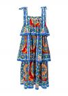 Rochie Multicolora Cu Volane- LIMITED EDITION-