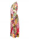 Rochie Midi cu Flori si Buline